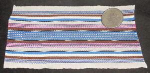 "Dollhouse Miniature White Backstrap Guatemala Blanket Rug @ 3X5"" Southwest #2"