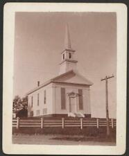 "Original Early Photo~Chatham,MASS Congregational Church 1896~3 x 4"" Historic VG"