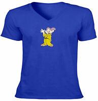 7 Dwarfs Dopey Unisex Tee V-Neck T-Shirt Mens Women Gift Print Snow White Disney