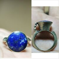 Near Eastern wonderful antique Lapis lazuli stone old Ring    # 26