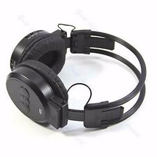 Mp3 Sport Player Lcd Foldable Wireless Headphone Headset Fm Radio Tf Card Black