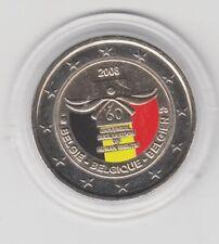 Belgien  2 €  Menschenrechte   2008  coloriert  Farbmünze