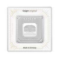 100 Gramm Fein Silberbarren Silver Argent Bar Geiger original quadratisch Kapsel