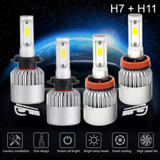 4 Bulbs Kit 3000W 450000LM H7 + H11 6000K Combo CREE LED Headlight High Low Beam