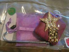 """JC Table Counter Bar Top Bag Purse Hook Hanger """" shooting star """" COA"""