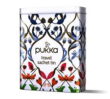 Pukka Herbal Organic Travel Tea Sachet Tin + 5 Random Tea Sachets