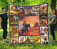 The Hero American Legend Quilt John Wayne Blanket - Quilt, Fleece Blanket