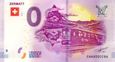 SUISSE Zermatt, Train, N° de la 3ème liasse, 2018, Billet 0 € Souvenir