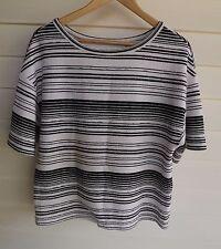 Country Road Women's Black & White Stripe Top - Size XS