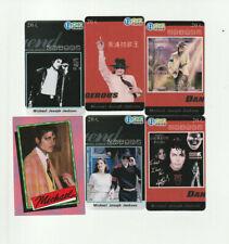 (5) Rare Michael Jackson Phone Cards + 1 Bonus Card