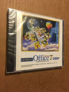 RARE NEW/SEALED VINTAGE SOFTWARE - COREL OFFICE 7 (OEM) CD-ROM - 1996