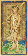 Tarot Card The Fool by Visconti Sforza Art Print Wall Poster Home Decor Wicca