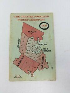 Vintage Il Maggiore Portland Street Directory Maine Mappe Book Libretto Ephemera