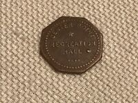 Center Point  Recreation Hall Good For 5 Five Cents In Trade 8 sided Token