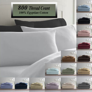 Deluxe Ultra Soft 800 Thread Count 100% Pure Cotton Solid PILLOWCASES