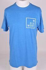 2016 NWOT MENS ELEMENT BOXER TSHIRT $24 M lake blue chest logo graphic
