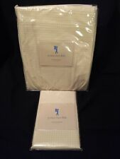 Pottery Barn Kids Yellow Gingham Percale Twin Bed Skirt & Standard Pillow Case