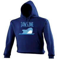 JAWSOME HOODIE hoody cute animal shark joke funny birthday gift 123t