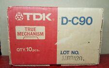 "TDK D-C90 ""TRUE MECHANISM"" : 1979 : JAPAN (ORIGINAL BOX 10) : NEW & SEALED"