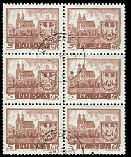 Scott # 947 - 1960 - ' Gniezno ', Historic Towns - Block of 6