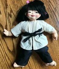 "1982 Chopstick Kids Mieler Asian GIRL KARATE DOLL 14"" Jacobsen"