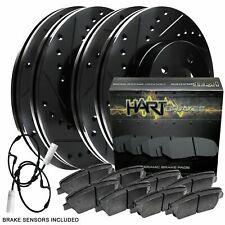 Fit 2002-2006 Mini Cooper Black Hart Full Kit Brake Rotors+Ceramic Brake Pads