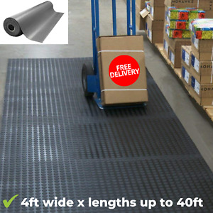 Excellent Non-slip Black Rubber Coin-Grip Flooring And Rolling Mat Water-proof