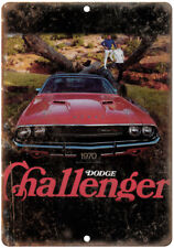 """1970 Dodge Challenger Vintage Car Ad 10"""" x 7"""" Reproduction Metal Sign A212"""