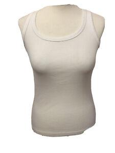 Ladies Atmosphere White Vest Top U.K. 12-14 Simple & Elegant T 277