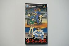 Super Famicom Shin Nekketsu Kouha Kunio-tachi no Banka Boxed Japan SFC US Seller