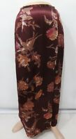 Laura Ashley 4 US 8UK 34EU Burgundy Floral Long Wrap Rayon Skirt Made in UK