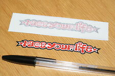 """Marco Simoncelli """"Race Your Life"""" Screen Decals (Pair) - Small"""