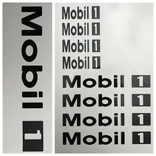 8pc Custom Mobil 1 Brake Caliper Vinyl Sticker Decal Logo Overlay Graphics