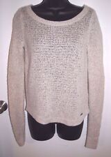 Abercrombie & Fitch Size Medium Women's Wool Blend Cream and Gold Fleck Sweater