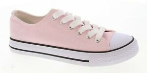 New Womens Classic Lace Up Canvas Shoes Casual Athletic Comfort Sneakers