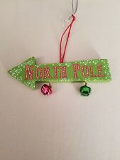 New Resin North Pole Sign Ornament Midwest CBK
