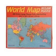 New Old Stock Golden World Map 300 Piece Puzzle 1984 USSR & East/West Germany