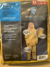 West Chester Protective Gear Polyester 3-Piece Work Rain Suit Yellow, Xl