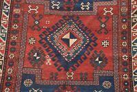 Pre-1900 Antique VEGETABLE DYE Tribal Caucasian Kazak Oriental Area Rug Wool 5x7