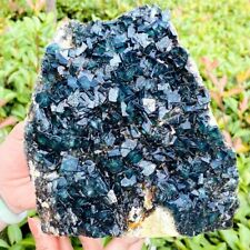 2235g Natural Rare Green Cube Fluorite crystal Mineral Specimen stone healing