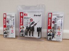 Trend Snappy 4pce Plug Cutter and Countersink Set Snap/pc/a