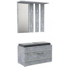 Wandgarderobe Garderobe Flurgarderobe Paneel Spiegel Schrank kommode beton