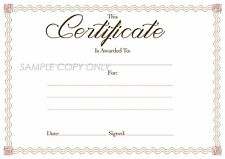 12 x Blank Award Certificates, High Quality A4 Card &  HP Print