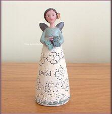 OCTOBER BIRTHDAY WISH ANGEL FIGURE BY KELLY RAE ROBERTS FREE U.S. SHIPPING
