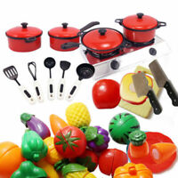 Children Kids Play Toys Kitchen Utensils Pots Pans Dishes Cookware Cooking E4U5