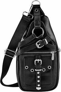 Killstar Alexander Gothic Punk Harness Crossbody Sling Backpack Bag KSRA002288