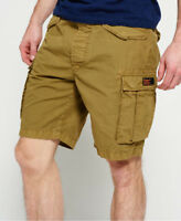 New Mens Superdry Core Lite Ripstop Cargo Shorts Squadron Green