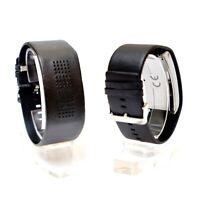 Binäruhr Herrenuhr Schwarz Binäre Armbanduhr Binär Uhr Leder Armband Unisex
