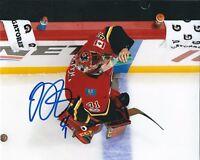 Signed  8x10 MIKE SMITH Calgary Flames Autographed Photo - COA