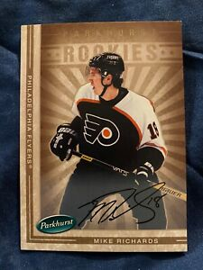 05-06 PARKHURST MIKE RICHARDS #652 SP AUTO 64/100 FLYERS MINT BV: $25